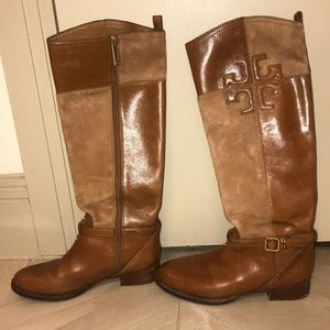 Tory Burch leather and suede boots